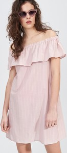 Różowa sukienka Sinsay bez rękawów mini
