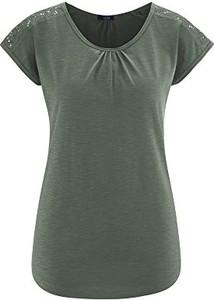 Bluzka amazon.de z okrągłym dekoltem z krótkim rękawem w stylu casual