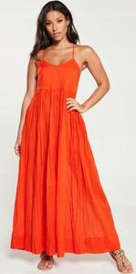 Czerwona sukienka V by Very maxi