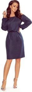 Granatowa sukienka NUMOCO mini z okrągłym dekoltem