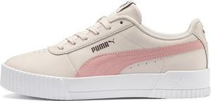 Trampki Puma z płaską podeszwą ze skóry