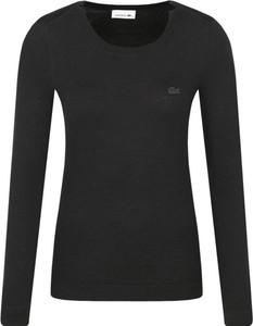 Czarny sweter Lacoste z wełny w stylu casual