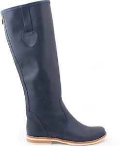 Zapato kozaki - skóra naturalna - model 127 - kolor granat