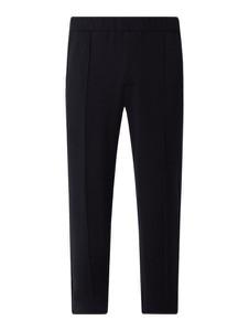Granatowe spodnie Emporio Armani z dresówki w stylu casual
