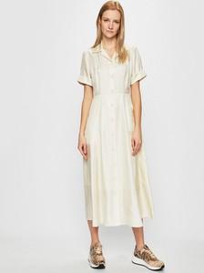 Sukienka Calvin Klein w stylu casual z krótkim rękawem koszulowa