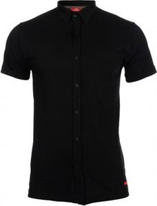 Czarna koszulka polo Roy z bawełny z krótkim rękawem