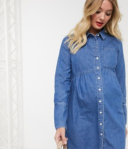 Niebieska sukienka Asos z jeansu