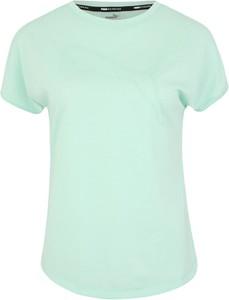 Miętowy t-shirt Puma z dżerseju
