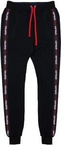 Czarne spodnie sportowe MAJORS z żakardu