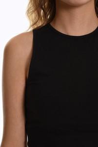 Czarna bluzka Gate z bawełny z okrągłym dekoltem w stylu casual
