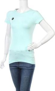 Niebieska bluzka Work Out z okrągłym dekoltem