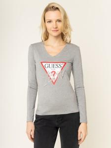 Bluzka Guess z dekoltem w kształcie litery v z długim rękawem w młodzieżowym stylu