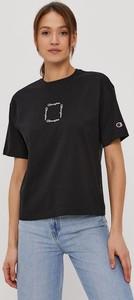 Czarna bluzka Champion z dzianiny z okrągłym dekoltem