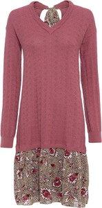 Czerwona sukienka bonprix prosta z tkaniny
