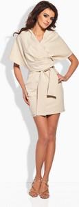 Sukienka Lemoniade kopertowa mini z krótkim rękawem