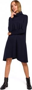 Sukienka MOE mini z golfem z bawełny