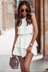 Sukienka Ivon bez rękawów z okrągłym dekoltem mini
