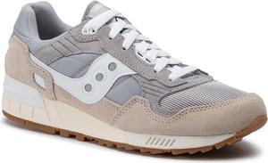 Buty sportowe Saucony sznurowane z zamszu