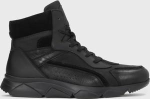 Czarne buty sportowe Kazar Studio sznurowane w sportowym stylu