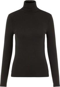 Czarna bluzka Vero Moda z długim rękawem z golfem w stylu casual