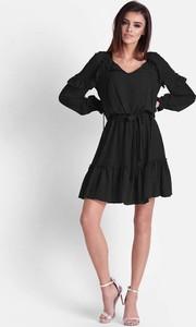 Sukienka Ivon z szyfonu z długim rękawem w stylu boho