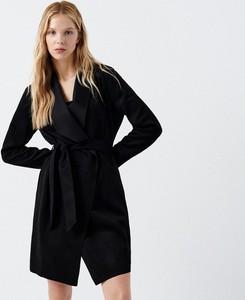 Cropp - Płaszcz z paskiem - Czarny