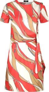 Sukienka Elisabetta Franchi z jedwabiu z krótkim rękawem mini
