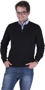 Czarny sweter M. Lasota ze skóry ekologicznej