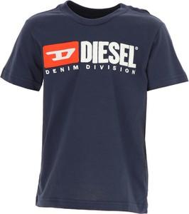 Niebieska koszulka dziecięca Diesel z krótkim rękawem z bawełny