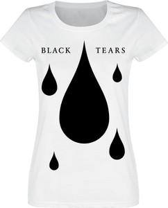 T-shirt Emp w stylu casual z bawełny z okrągłym dekoltem