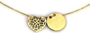 Lovrin Złoty naszyjnik 585 celebrytka ażurowe serce kółeczko