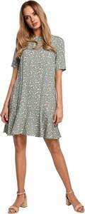 Sukienka MOE z tkaniny z krótkim rękawem