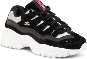 Czarne buty sportowe Skechers ze skóry