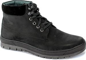 Buty zimowe Riko ze skóry sznurowane