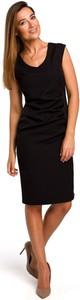 Sukienka Stylove prosta midi z dekoltem w kształcie litery v