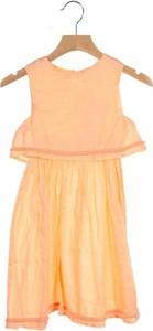 Pomarańczowa sukienka dziewczęca Basics