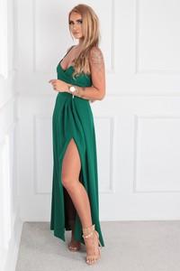 Sukienka Ptakmoda.com kopertowa na ramiączkach z dekoltem w kształcie litery v