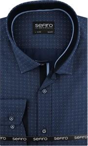 Niebieska koszula Sefiro z tkaniny
