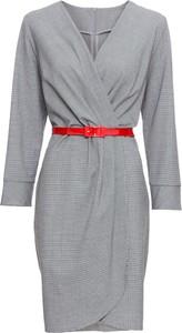 Sukienka bonprix BODYFLIRT z dekoltem w kształcie litery v kopertowa midi
