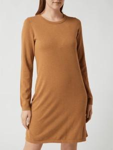 Brązowa sukienka Esprit prosta z bawełny mini