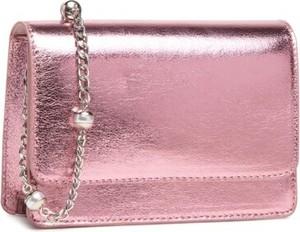 Różowa torebka DeeZee lakierowana średnia ze skóry