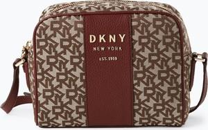 Czerwona torebka DKNY na ramię w młodzieżowym stylu