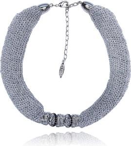 POLSKA Krótki srebrny naszyjnik