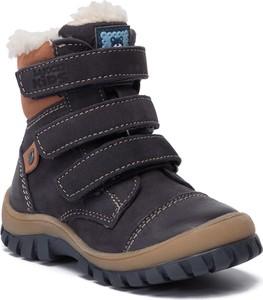 Granatowe buty dziecięce zimowe Lasocki Kids