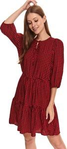 Czerwona sukienka Top Secret mini w stylu casual