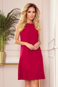 Czerwona sukienka NUMOCO bez rękawów trapezowa mini