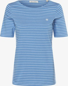 Niebieski t-shirt Marc O'Polo w stylu casual z okrągłym dekoltem