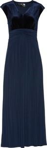 Granatowa sukienka bonprix bpc selection premium rozkloszowana na bal