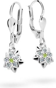 Cutie jewellery kolczyki dziecięce cutie kwiatki c2210 białego, zapięcie patentowe