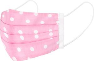 Em Men`s Accessories Maseczka ochronna wykonana z bawełny - różowa w groszk